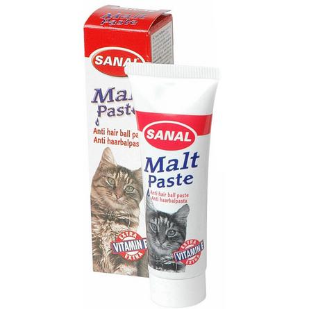 Санал Паста Malt Paste для выведения шерсти у кошек, в ассортименте, Sanal