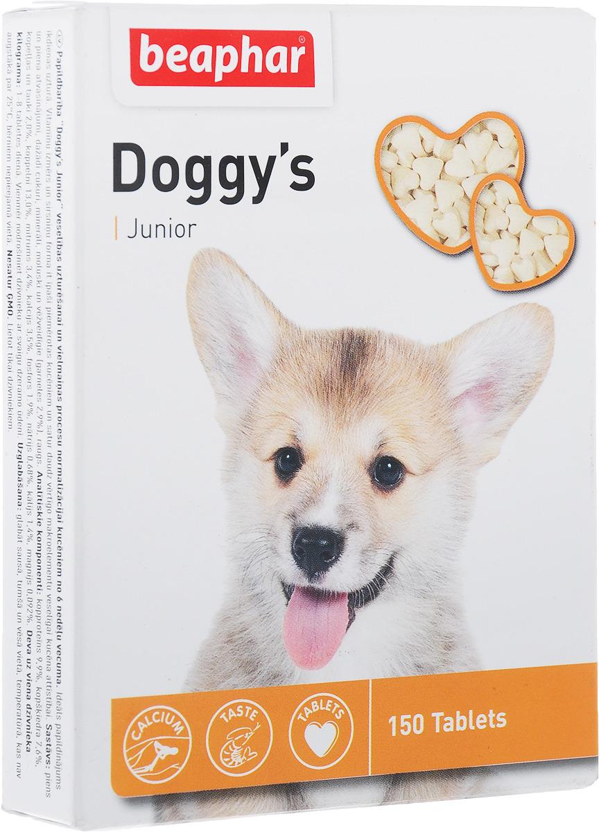 """Беафар Витаминизированное лакомство """"Doggy`s Junior""""для щенков, 150 шт, Beaphar"""