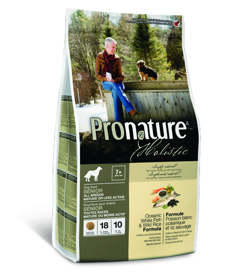 Пронатюр Холистик Беззерновой корм для собак Senior облегченный Океаническая белая рыба/Рис 2,72 кг Pronature