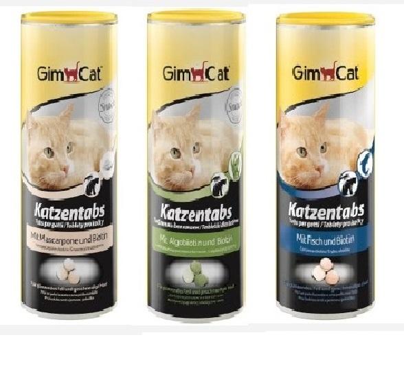 Джимкэт Витаминизированное лакомство KatzenTabs (КатценТабс) для кошек, 425 г, в ассортименте, GimCat