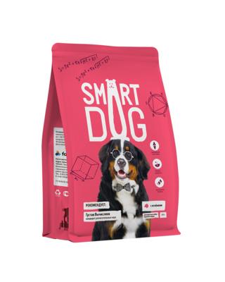 Смарт Дог Корм для собак крупных пород, Ягненок, в ассортименте, Smart Dog