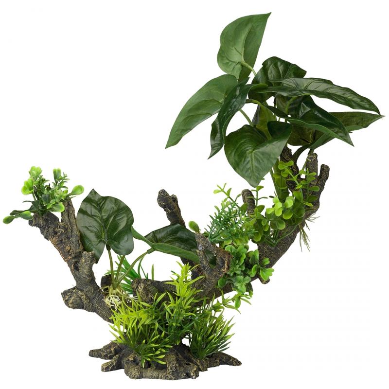 АкваДелла Декоративное растение Florascape 2 для террариумов и аквариумов, 28*15*23,5 см, AquaDella