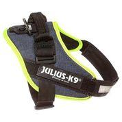 Джулиус К9 Шлейка для собак IDC-Powerharness джинса-зеленый неон, в ассортименте, JULIUS-K9