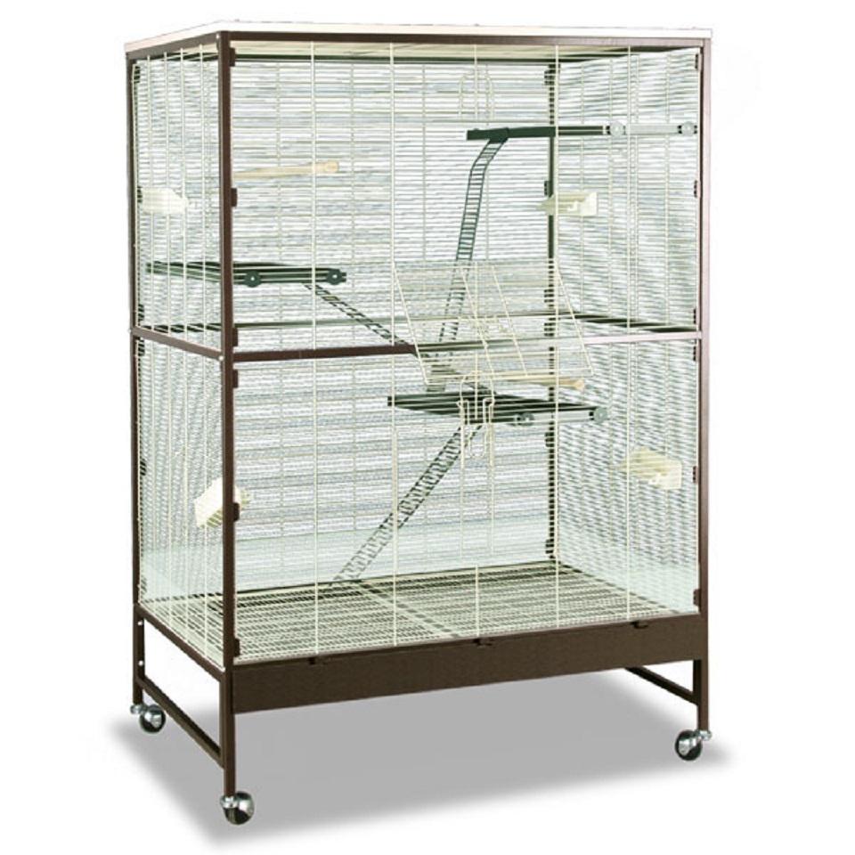 Монтана Клетка Sevilla III для грызунов и птиц, 119*81*180 см, шоко/ваниль, Montana