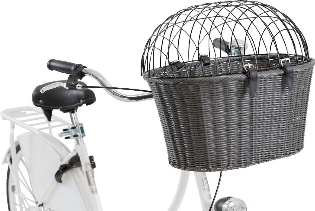 Трикси Корзина-переноска для велоперевозок из полиротанга, крепится на руль, 44*41*34 см, Trixie