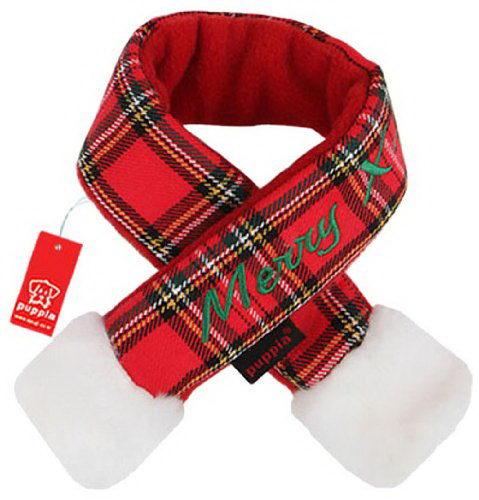 Паппи Шарфик новогодний Santa для собак и кошек, в ассортименте, красная клетка, PUPPIA