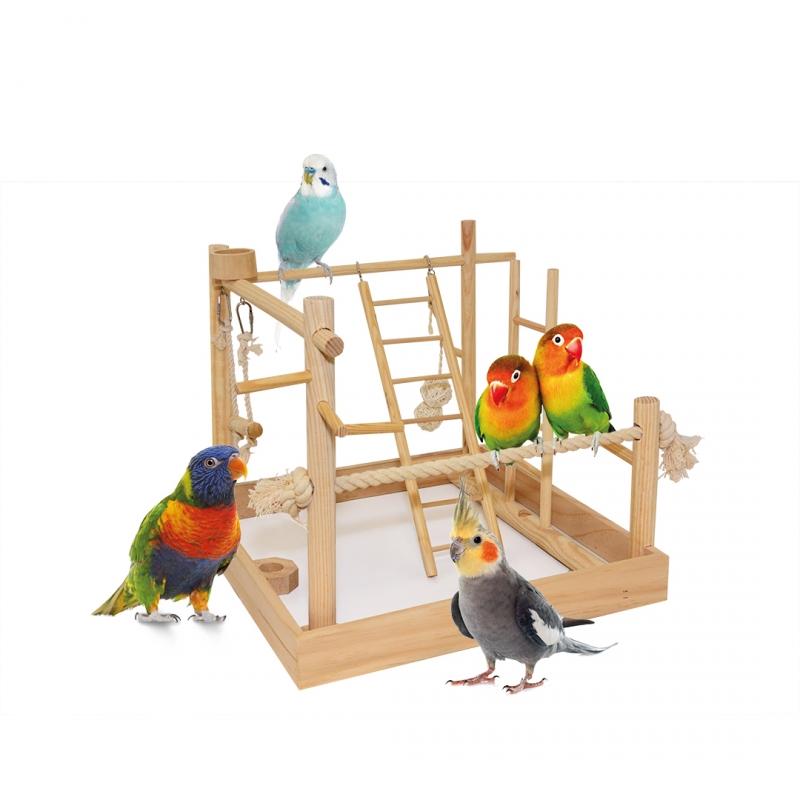 Дуво+ Игровая площадка для мелких и средних птиц 38*38*40,5 см, Duvo+