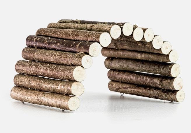Зообалу Мостик для грызунов деревянный, 25*12 см, Zoobaloo