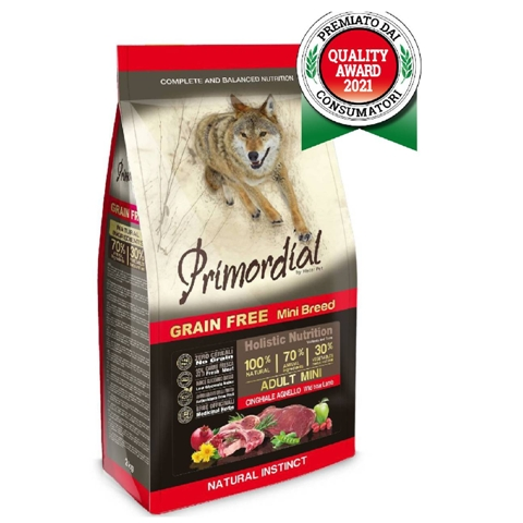 БОНУС Примордиал корм беззерновой Adult Mini для собак мелких пород, Кабан/Ягненок, в ассортименте, Primordial