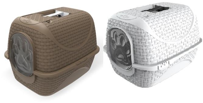 Бама Пет Туалет-бокс Prive с угольным фильтром, 42*50,5*39,6 см, в ассортименте, Bama Pet