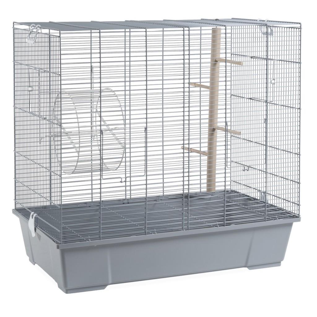 Вольтрега Клетка 205 для крыс и дегу 70*40*65 см серая, Voltrega