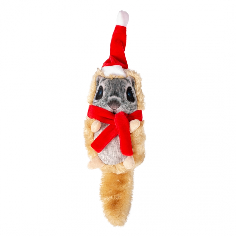 Дуво+ Игрушки новогодние для собак, в ассортименте, плюш, DUVO+