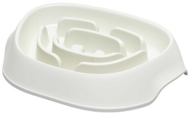 Модерна Миска-диетолог Slomo для медленного поедания корма 950 мл, в ассортименте, Moderna Products