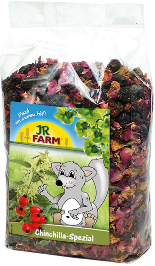 JR Farm Лакомство для шиншилл Chinchillas Special Морковь/Шиповник/Лепестки роз 500 г