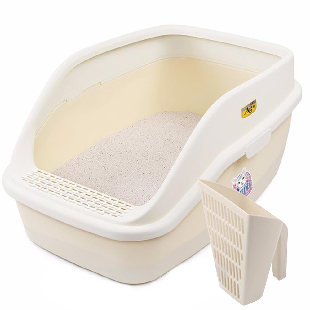 КэтИдея Туалет-лоток CL221 XXL 63*45*30 см с высоким бортиком и совком, в ассортименте, Catidea
