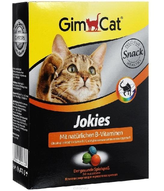 Джимкэт Витаминизированное лакомство Jokies (Джокис) для кошек, 520 г, GimCat
