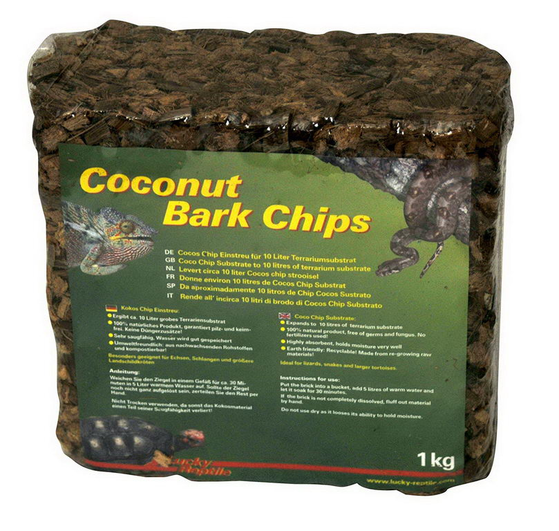 Лаки Рептайл Субстрат для террариумов Coconut Bark Chips,1 кг, Lucky Reptile