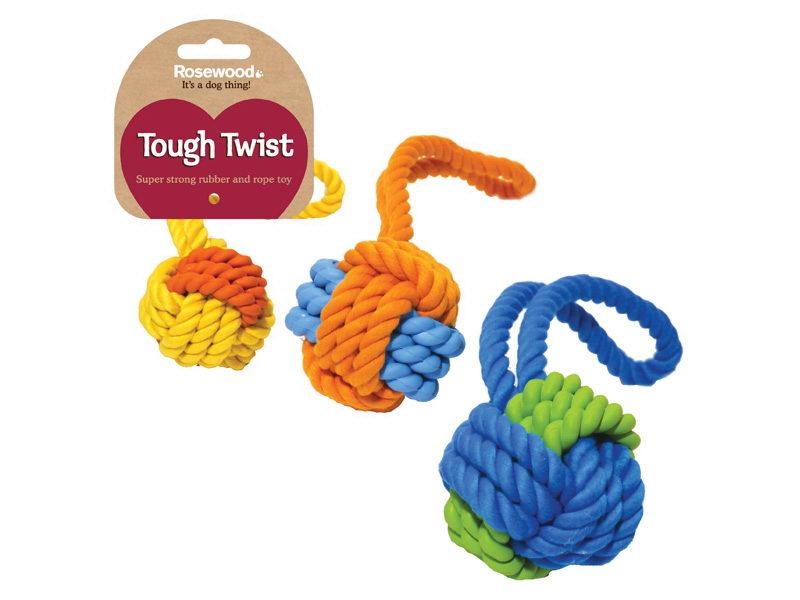Роузвуд Игрушка для собак Мяч с ручкой серия Tough Twist в ассортименте, Rosewood