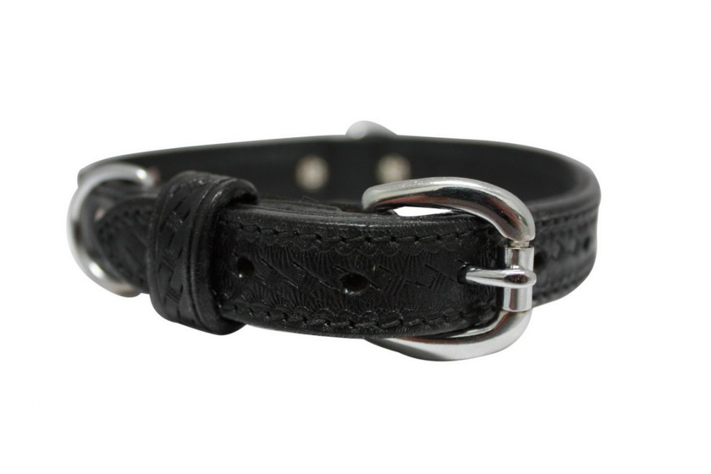 Энджел Ошейник для собак Santa Fe, черный, натуральная кожа, в ассортименте, Angel
