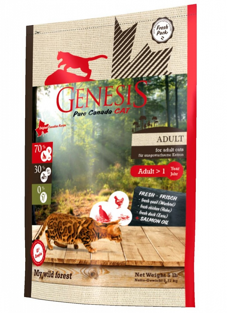 Генезис Корм Pure Canada My Wild Forest (Мой Дикий Лес) для кошек, Утка/Перепелка/Курица, в ассортименте, Genesis