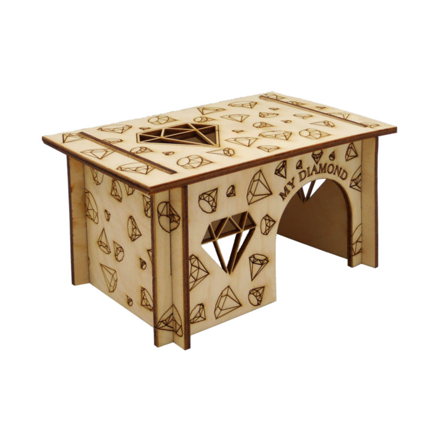 Петто Домик с плоской крышей Мой бриллиант, фанера, в ассортименте, сборная конструкция