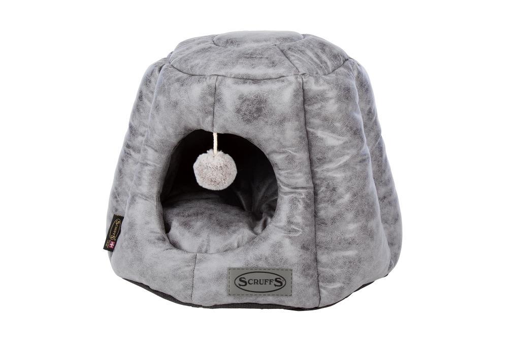 Скрафс Домик-пещера Knightsbridge Cat Igloo экокожа 48*48*38 см, в ассортименте, Scruffs