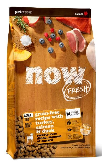 Корм Нау беззерновой для собак Fresh Adult Recipe Grain Free Индейка/Утка/Овощи, в ассортименте, Now