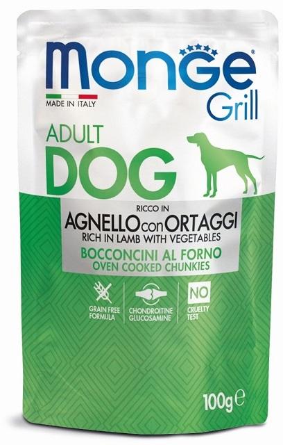 Монже Паучи Dog Grill Pouch (Дог Гриль) для собак, в ассортименте, 100 г, Monge