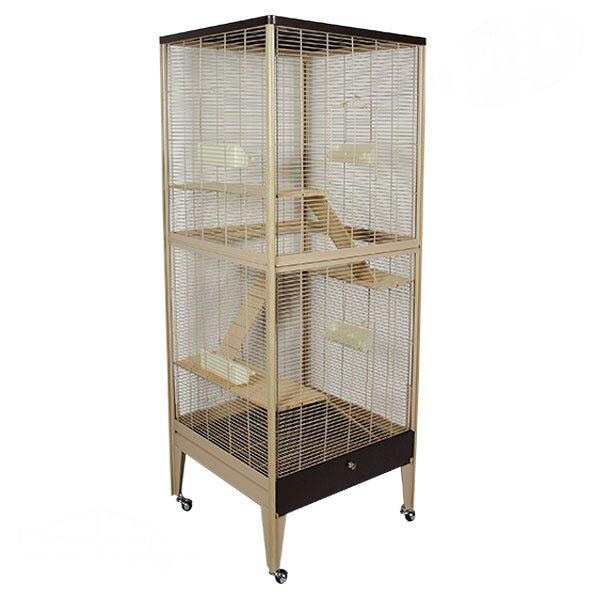 Монтана Клетка Happy Home 66B для грызунов, хорьков и птиц, 66*61*165,5 см, в ассортименте, Montana