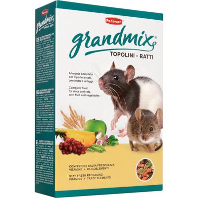 Падован Корм премиум класса для крыс и мышей GrandMix topolini e ratti, в ассортименте, Padovan
