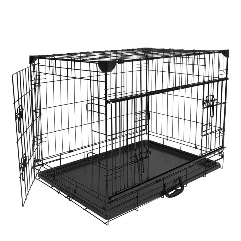 Дуво+ Клетка металлическая Pet Kennel Ninjaс раздвижной дверью, в ассортименте, DUVO+