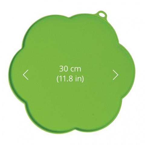 Хаген Коврик силиконовый с бортиком для фонтанов и мисок, 30 см, зеленый, Hagen
