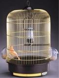 Имак Клетка Milly круглая для птиц 33*48 см золотые прутья/коричневый поддон, Imac