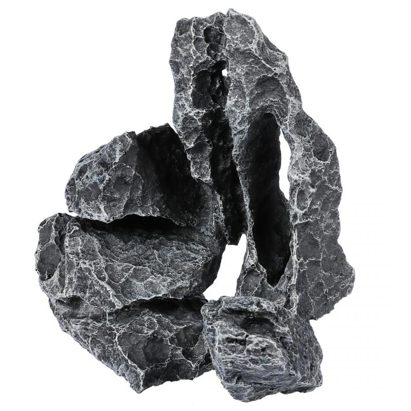 АкваДелла Декорация для аквариума Камень Магма серый 26,5*17,5*19 см, AquaDella