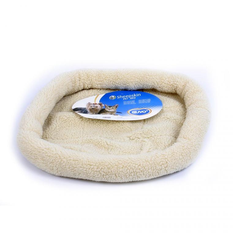 Дуво+ Лежак для кошек и собак Sheepskin в ассортименте, под мех ягненка, DUVO+