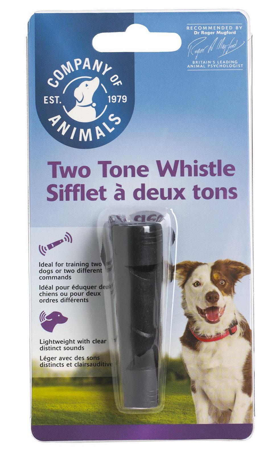 Свисток для собак двухтональный, пластик, Company of Animals