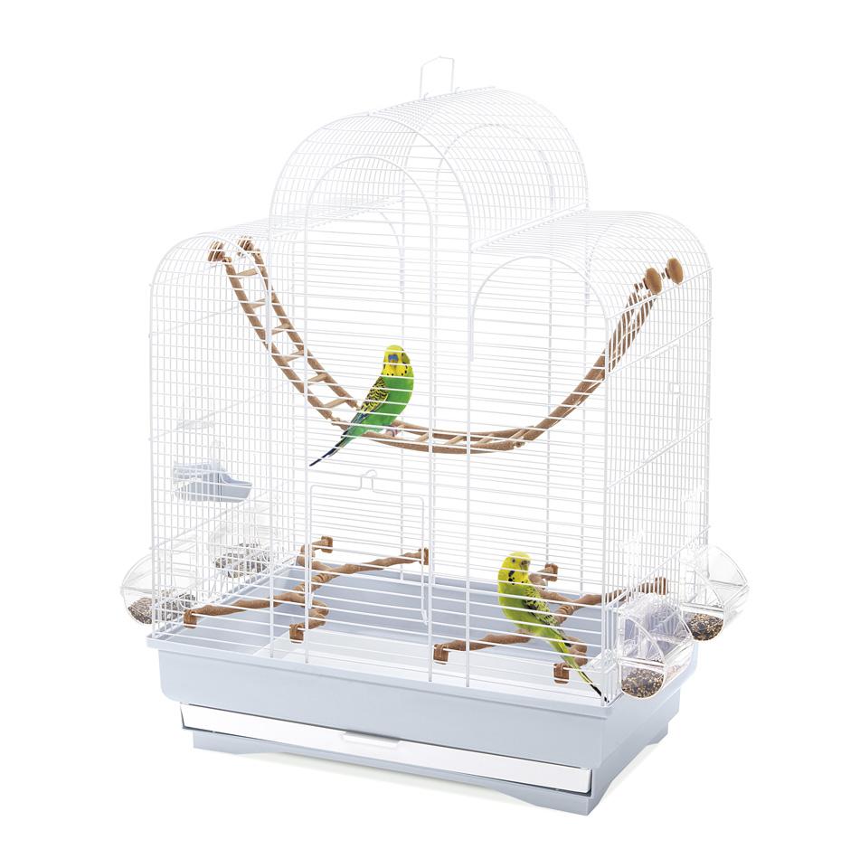 Имак Клетка Fiona для птиц, 50*30*65 см, морозно-голубой поддон, Imac