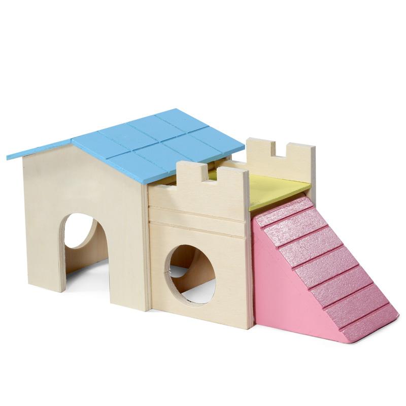 Триол Игровой комплекс для мелких животных Домик, 24*10*10 см, Triol