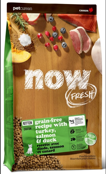 Корм Нау беззерновой для котят и кормящих кошек Fresh Grain Free Kitten Recipe Индейка/Утка/Овощи, в ассортименте, Now