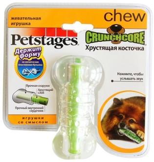 Петстейджес Игрушка для собак Хрустящая резиновая косточка, в ассортименте, Petstages