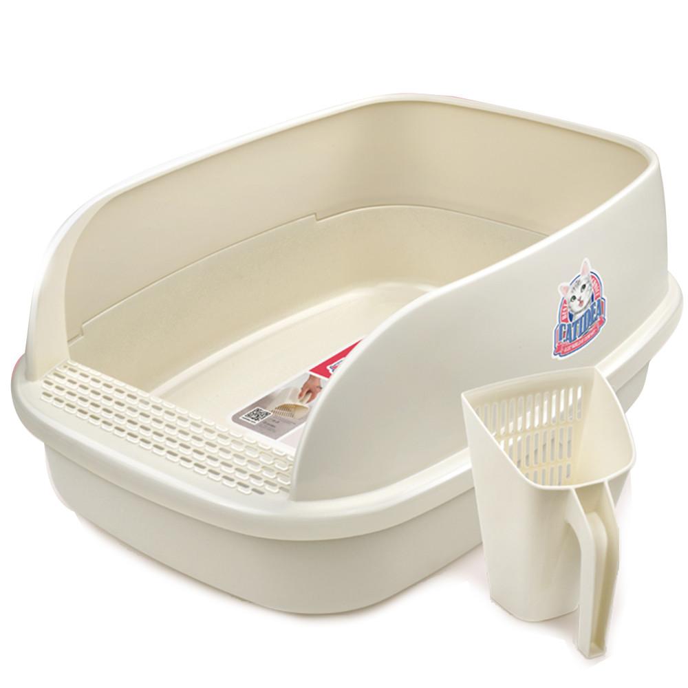 КэтИдея Туалет-лоток CL212 с высоким бортиком и совком 51*38*25 см, в ассортименте, Catidea