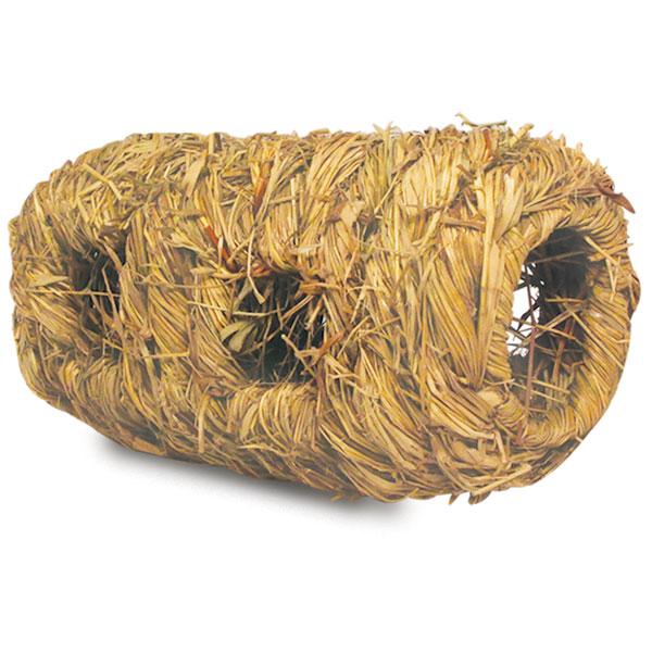 Триол Домик плетеный Туннель, 9,5*9,5*17 см, солома, Triol