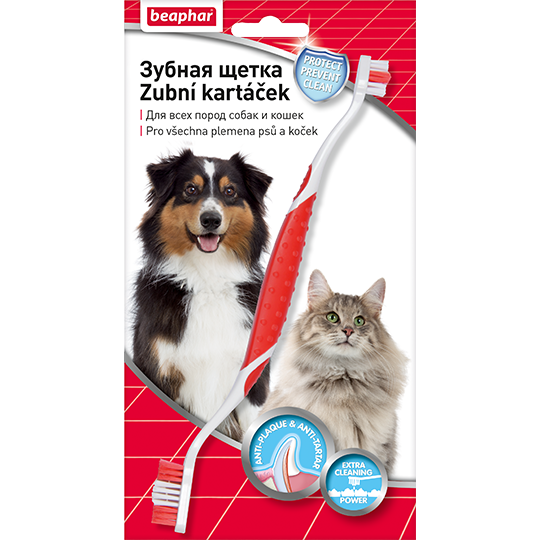 Беафар Двойная зубная щетка Toothbrush для собак и кошек, Beaphar