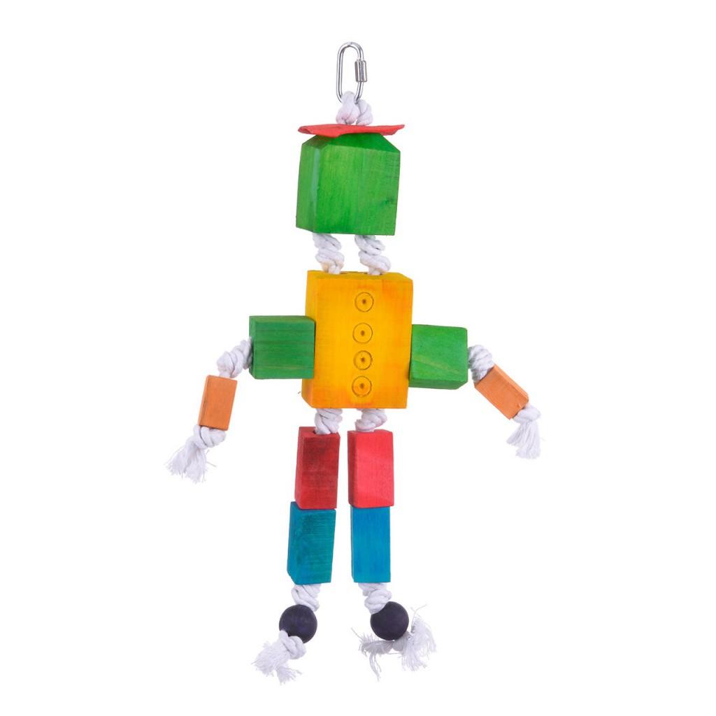 Хеппи Берд Игрушка для птиц Деревянный робот, 24*5*27 см, Happy Bird