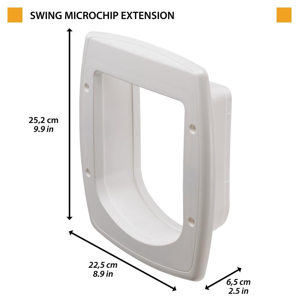 Ферпласт Туннель для двери Swing Microchip Large 17*20 см белая Ferplast