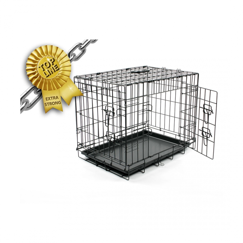 Дуво+ Клетка металлическая Pet Kennel Top Line двухдверная, в ассортименте, DUVO+