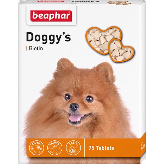 Беафар Кормовая добавка Doggy's + Biotine для собак, 75 таб., Beaphar