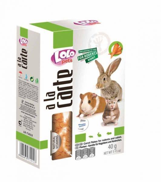 ЛолоПетс Лакомство для грызунов и кроликов A la carte в ассортименте, Lolo Pets