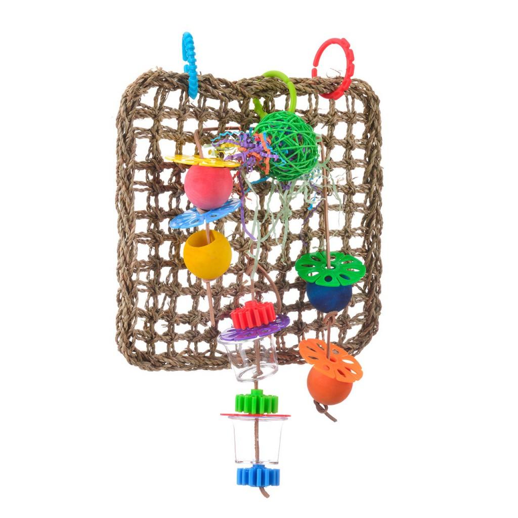 Хеппи Берд Игрушка фуражилка для птиц Плетёнка с игрушками, 53*37 см, Happy Bird