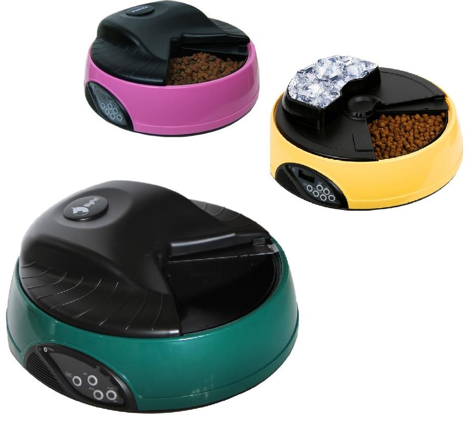 Петвант Автокормушка 4 секции для собак и кошек с отделением для льда, в ассортименте, Petwant